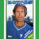 1988 Topps Baseball #534 John Wathan MG / Kansas City Royals Team Checklist