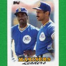 1988 Topps Baseball #519 Seattle Mariners Team Leaders / Harold Reynolds / Phil Bradley