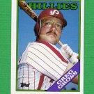 1988 Topps Baseball #518 Greg Gross - Philadelphia Phillies