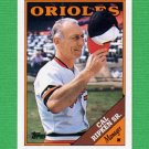 1988 Topps Baseball #444 Cal Ripken Sr. MG / Baltimore Orioles Team Checklist ExMt