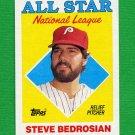 1988 Topps Baseball #407 Steve Bedrosian AS - Philadelphia Phillies