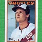 1988 Topps Baseball #383 Eric Bell - Baltimore Orioles