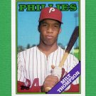 1988 Topps Baseball #298 Milt Thompson - Philadelphia Phillies NM-M