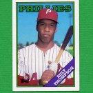 1988 Topps Baseball #298 Milt Thompson - Philadelphia Phillies ExMt