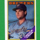 1988 Topps Baseball #286 Chuck Crim - Milwaukee Brewers