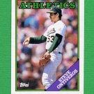 1988 Topps Baseball #272 Steve Ontiveros - Oakland A's