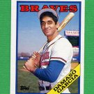 1988 Topps Baseball #241 Damaso Garcia - Atlanta Braves