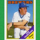 1988 Topps Baseball #224 Tom Trebelhorn MG / Milwaukee Brewers Team Checklist NM-M