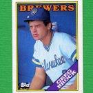 1988 Topps Baseball #212 Greg Brock - Milwaukee Brewers