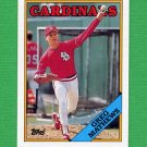 1988 Topps Baseball #133 Greg Mathews - St. Louis Cardinals