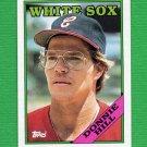 1988 Topps Baseball #132 Donnie Hill - Chicago White Sox