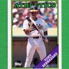 1988 Topps Baseball #122 Tony Bernazard - Oakland A's