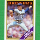 1988 Topps Baseball #110 Teddy Higuera - Milwaukee Brewers