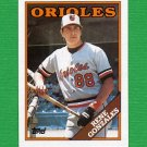 1988 Topps Baseball #098 Rene Gonzales RC - Baltimore Orioles