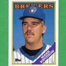 1988 Topps Baseball #061 Mark Knudson - Milwaukee Brewers