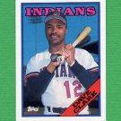 1988 Topps Baseball #049 Dave Clark - Cleveland Indians