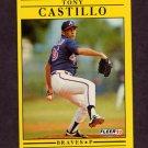 1991 Fleer Baseball #685 Tony Castillo - Atlanta Braves