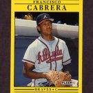 1991 Fleer Baseball #684 Francisco Cabrera - Atlanta Braves