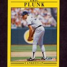 1991 Fleer Baseball #676 Eric Plunk - New York Yankees