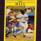 1991 Fleer Baseball #665 Mel Hall - New York Yankees