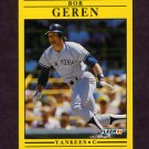1991 Fleer Baseball #663 Bob Geren - New York Yankees