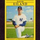 1991 Fleer Baseball #661 Dave Eiland - New York Yankees