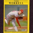 1991 Fleer Baseball #653 Todd Worrell - St. Louis Cardinals