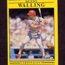 1991 Fleer Baseball #651 Denny Walling - St. Louis Cardinals