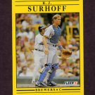 1991 Fleer Baseball #598 B.J. Surhoff - Milwaukee Brewers