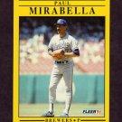 1991 Fleer Baseball #590 Paul Mirabella - Milwaukee Brewers