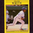 1991 Fleer Baseball #574 Frank White - Kansas City Royals