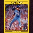 1991 Fleer Baseball #550 Luis Aquino - Kansas City Royals