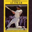 1991 Fleer Baseball #523 Roberto Alomar - San Diego Padres
