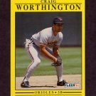 1991 Fleer Baseball #496 Craig Worthington - Baltimore Orioles