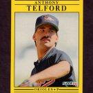 1991 Fleer Baseball #493 Anthony Telford RC - Baltimore Orioles