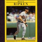 1991 Fleer Baseball #489 Bill Ripken - Baltimore Orioles