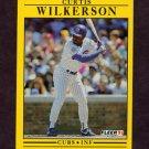 1991 Fleer Baseball #438 Curtis Wilkerson - Chicago Cubs