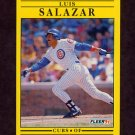 1991 Fleer Baseball #430 Luis Salazar - Chicago Cubs
