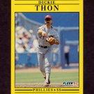 1991 Fleer Baseball #412 Dickie Thon - Philadelphia Phillies