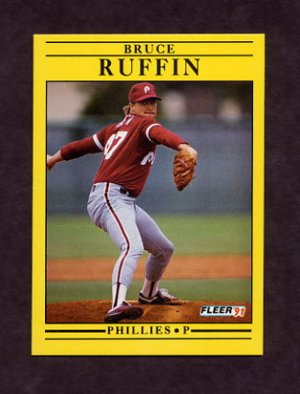 1991 Fleer Baseball #411 Bruce Ruffin - Philadelphia Phillies
