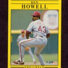 1991 Fleer Baseball #400 Ken Howell - Philadelphia Phillies