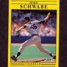 1991 Fleer Baseball #351 Mike Schwabe - Detroit Tigers