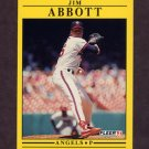 1991 Fleer Baseball #305 Jim Abbott - California Angels