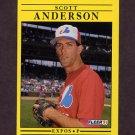 1991 Fleer Baseball #225 Scott Anderson RC - Montreal Expos