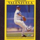 1991 Fleer Baseball #222 Fernando Valenzuela - Los Angeles Dodgers