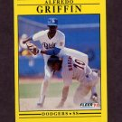 1991 Fleer Baseball #201 Alfredo Griffin - Los Angeles Dodgers