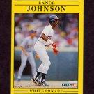 1991 Fleer Baseball #123 Lance Johnson - Chicago White Sox