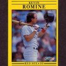 1991 Fleer Baseball #113 Kevin Romine - Boston Red Sox