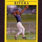 1991 Fleer Baseball #112 Luis Rivera - Boston Red Sox