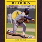 1991 Fleer Baseball #109 Jeff Reardon - Boston Red Sox